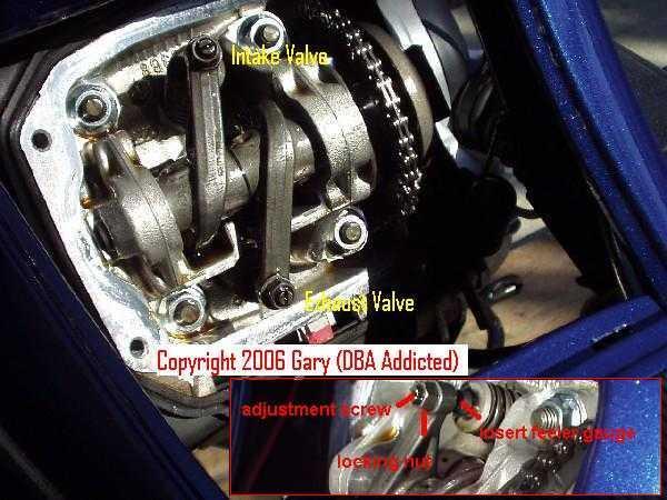 Modern Vespa : ET4/LX150/LEADER 150: Valve Lash Adjustment